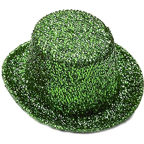 Green Glitter Top Hat (Green Glitter Mini Top Hat)