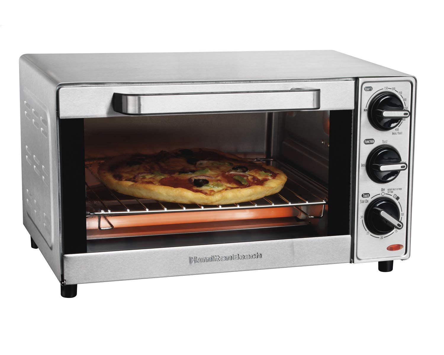 Hamilton Beach 31401 Toaster Oven, Pizza Maker, Large Capacity, Stainless Steel by Hamilton Beach