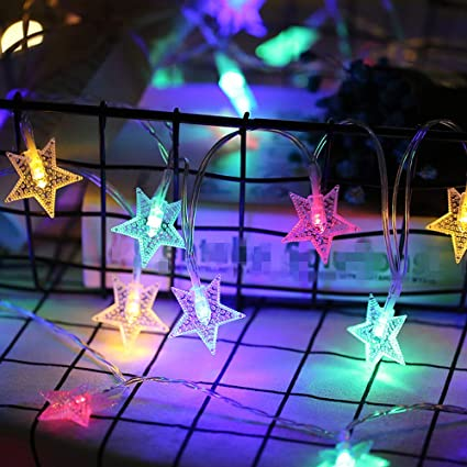 Amazon.com: Pratcgoods Garden Party Stars Lights Outdoor ...