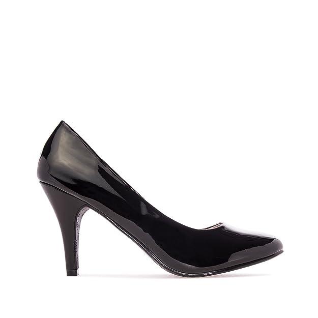 Andres Machado , Damen Durchgängies Plateau Sandalen mit Keilabsatz , - Purple Faux Leather - Größe: 36
