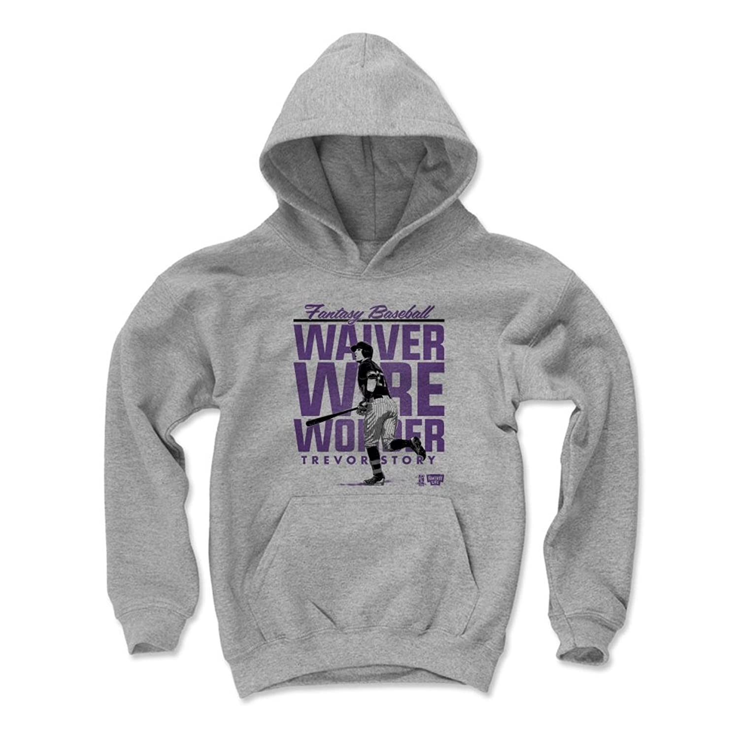 Discount 500 LEVEL Fantasy Baseball Kids Hoodie - Trevor Story Waiver Stack