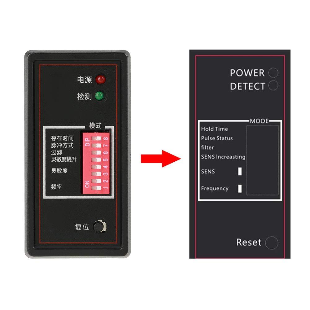 Akozon Detector de bucle de veh/ículo PD132 Sensor de veh/ículo inductivo de un solo canal Salida Detector de sensor de seguridad para el estacionamiento del autom/óvil