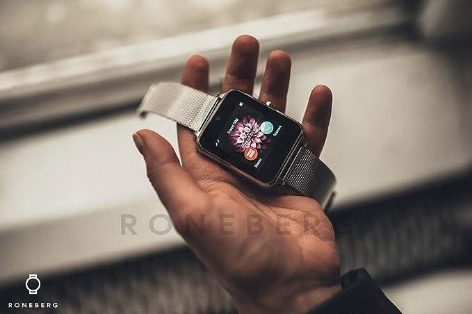 Amazon.com: Bluetooth Smartwatch RONEBERG,Smart Watch ...