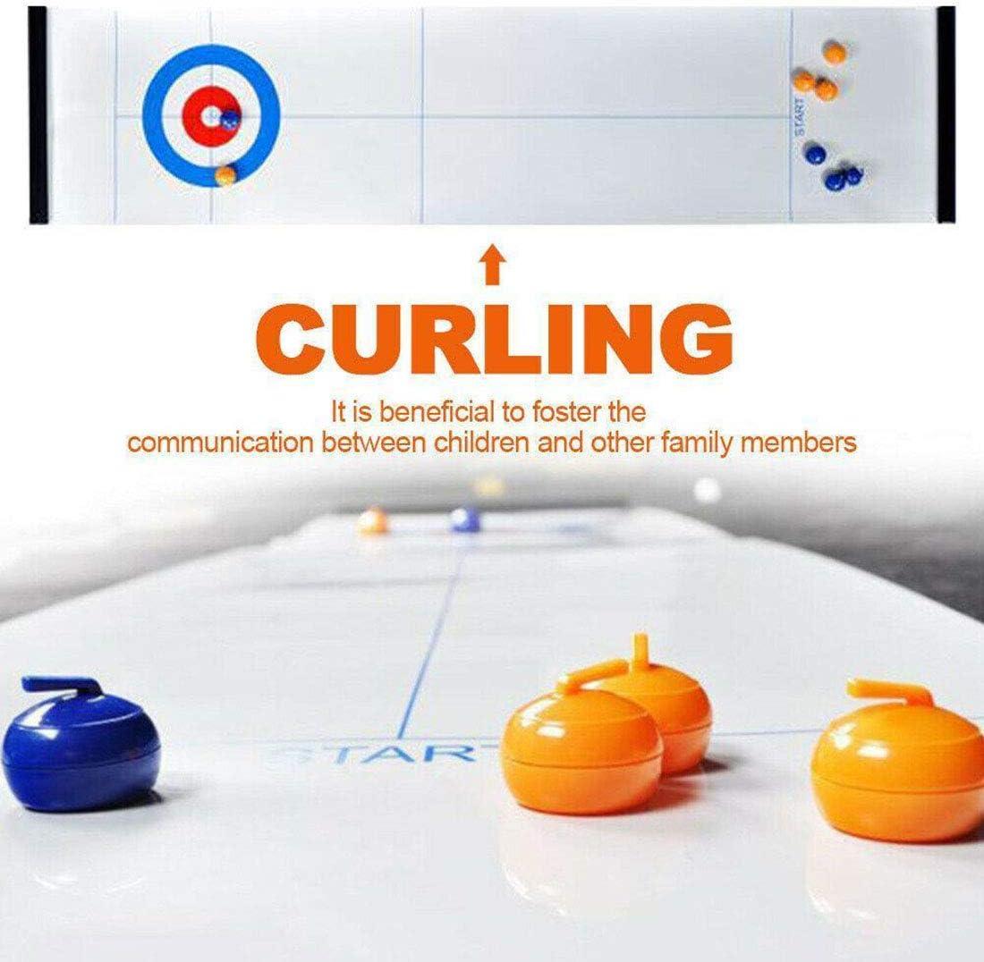 BYBYC Juego De Mesa Curling, Portátiles De Juegos Familiares para Niños, Compact Mini Tablero Curling Juego Mini para Juegos Entre Padres E Hijos/Familia/Viaje Divertido Juego Familiar,28×120cm: Amazon.es: Deportes y aire libre