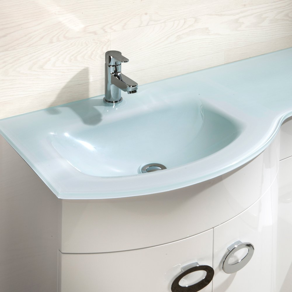 Home Standard Emperor 1100mm Vanity Unit Bathroom Suite - Left Hand ...