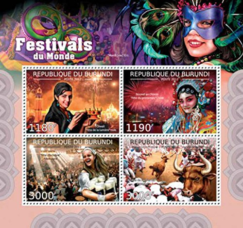 Burundi - World Festivals & Parties - 4 Stamp Sheet - 2J-334 ()