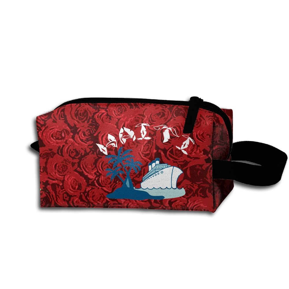 Haiti Coat Of Arms Unisex Creative Portable Travel Hanging Organizer Bag For Men's
