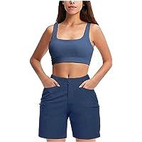 Nuevo Pantalones Cortos Casuales para Mujer BáSicas De Verano Informales Color Puro Golf Al Aire Libre Senderismo…
