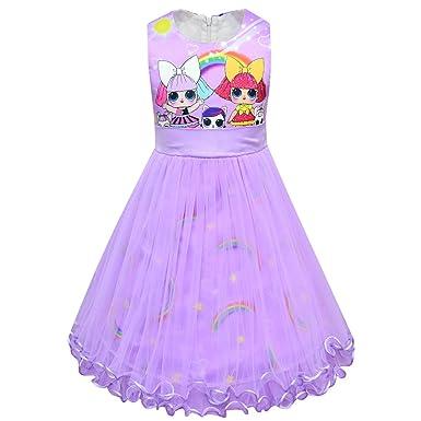Amazon.com: Vestido LOL para niñas| Vestido de princesa de ...