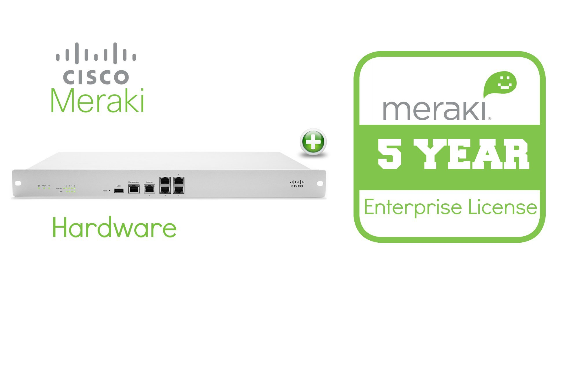 EOS Meraki MX80 Enterprise License and Support, 5 Years, Electronic Delivery