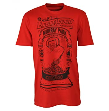 reputable site 55f8c abc52 adidas Derrick Rose Chicago Bulls Crew T-Shirt Englewood Industries Murray  Park, red