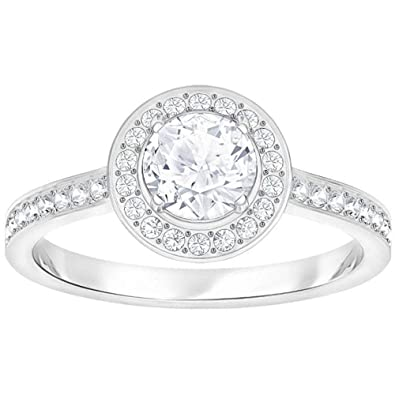 Swarovski Attract Light Round Cubic Zirkonia White Ring 5368545 (Maat 55)   Amazon.co.uk  Jewellery 3c8fe1ecf6f