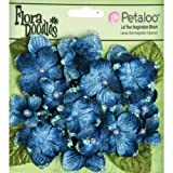 Flora Doodles Velvet Hydrangeas 22/Pkg-Deep Blue