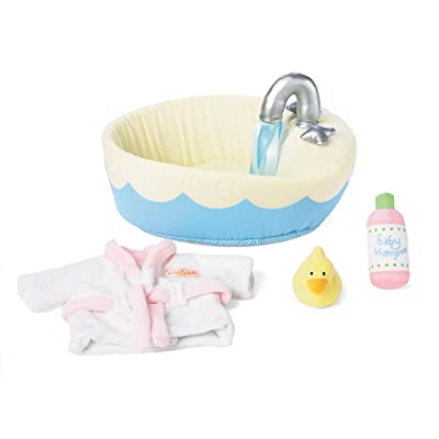 "Manhattan Toy Baby Stella Soft Bath Baby Doll Accessories Set for 12"" and 15"" Soft Dolls: Toys & Games"