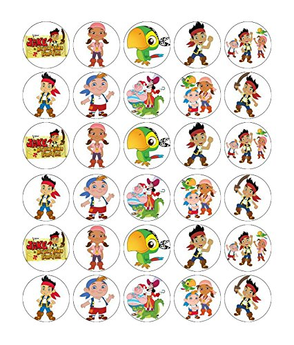 Jake And The Neverland Pirates Cupcake Toppers Wafer