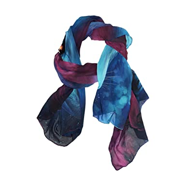 7c785f500e6 Image Unavailable. Image not available for. Color  MOFEIYUE Watercolor Cool  Animal Wolf Women Scarf Long Soft Chiffon Neck Scarves Wrap Shawl ...