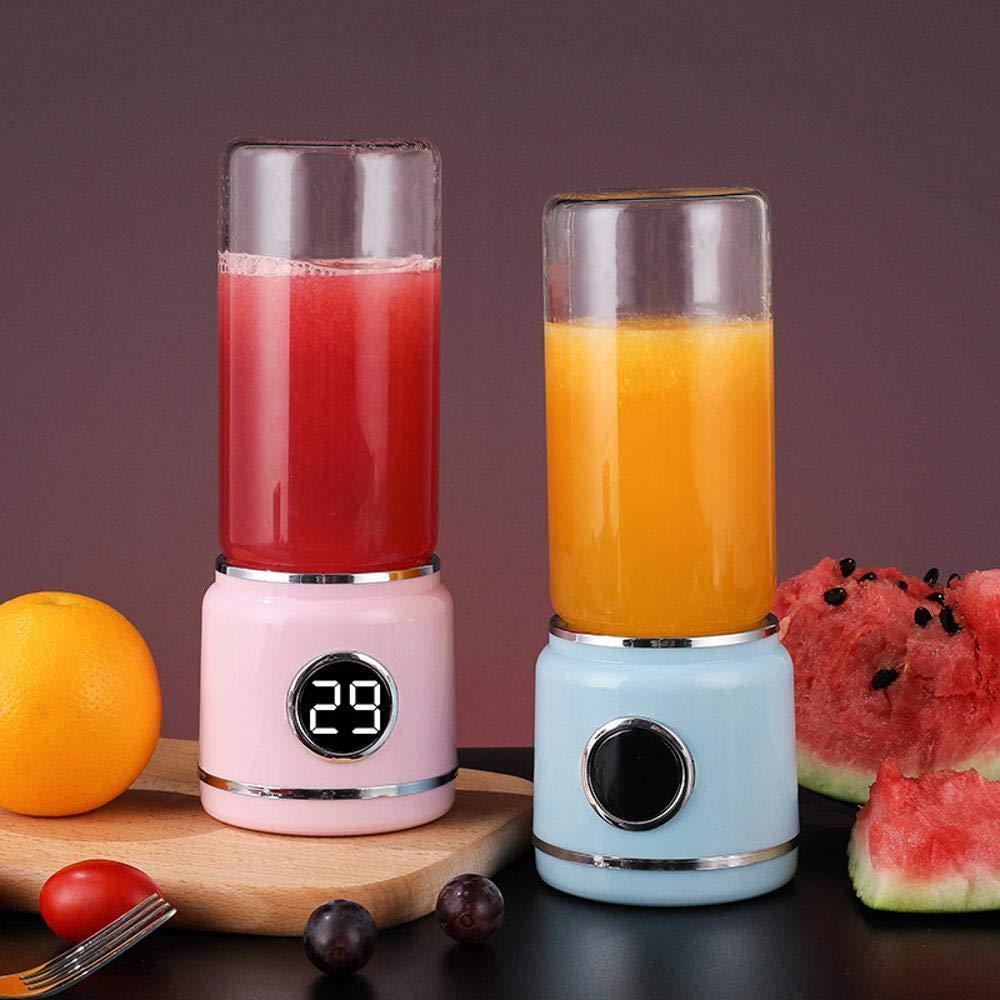 Lywljg Portátil exprimidor carga eléctrica mini soja leche máquina dormitorios frutas y vegetal exprimidor taza de jugo: Amazon.es: Hogar