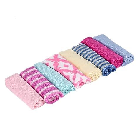 Heraihe 8 Piezas de bebé recién Nacido Infantil niños Toalla de baño toallita de baño Alimentación