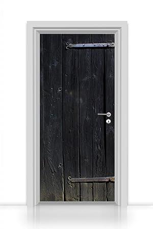 extrêmement unique Nouvelle liste Achat/Vente Mantiburi Papier peint autocollant pour porte en bois (porte ...