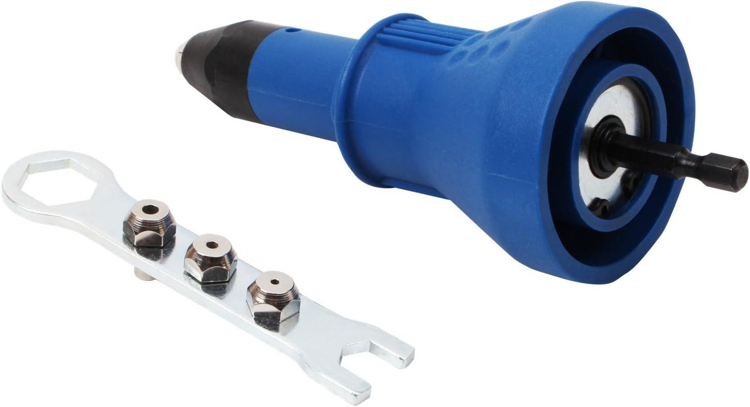 Dispositif /à riveter Appareil Riveter Riveteuse /à outils pince /à rivets Batterie de perceuse