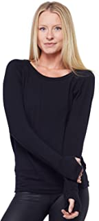 product image for Organic Pullover w/Thumbholes-Dark Black -Large (L)