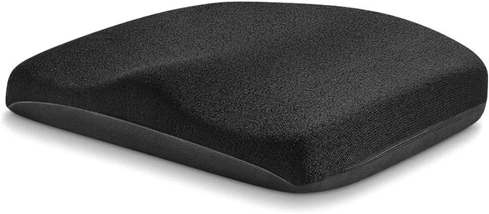 Tsumbay Memory Foam Seat Cushion, Office Soft Seat Cushion with Carry Handle, Washable Cover, Comfortable Coccyx Cushion for Home Office Chair Pad, Car Seat, Wheelchair -Black