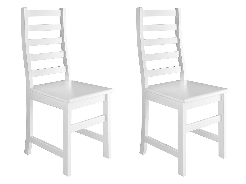 Erst-Holz® Weißer Stuhl Eris Küchenstuhl Massivholzstuhl Esszimmerstuhl 90.71-21-D W