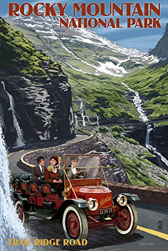 Rocky Mountain National Park, Colorado - Stanley Steamer (36x54 Giclee Gallery Print, Wall Decor Travel Poster)