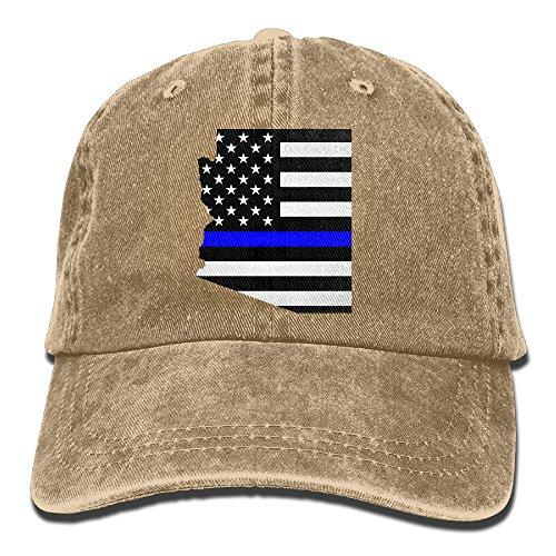 Unisex Adult Arizona Blue Thin Line Flag Police Distressed