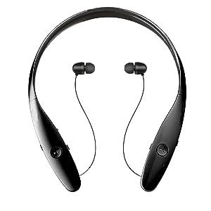 Wireless Bluetooth Headset Stereo Music Headphone Sport Earphone Bluetooth V 4.0 for Lg Apple Iphone Samsung HTC Bluetooth Wireless Stereo Headset(Black)