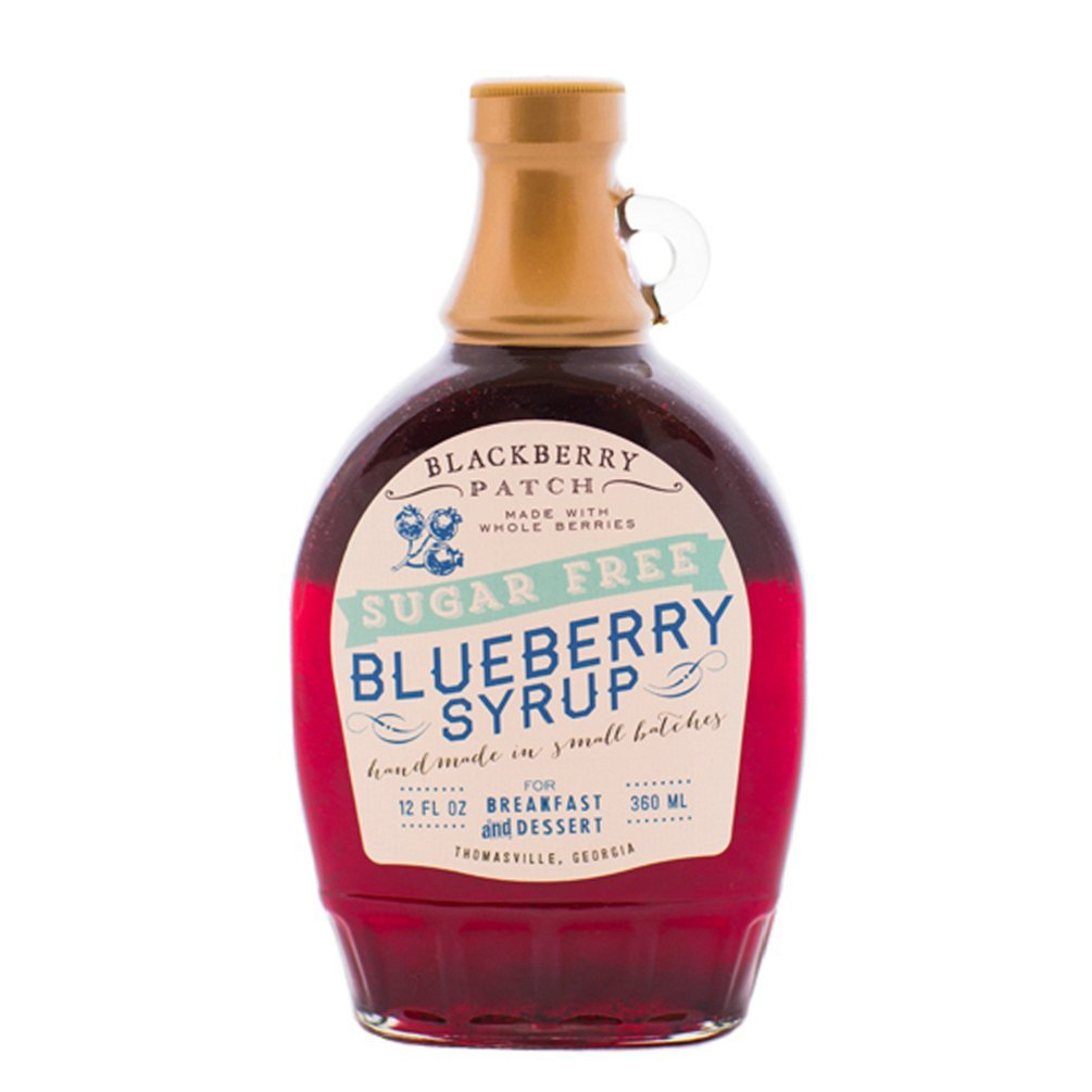Blackberry Patch, Syrup Wild Blueberry No Sugar Added, 12 Ounce