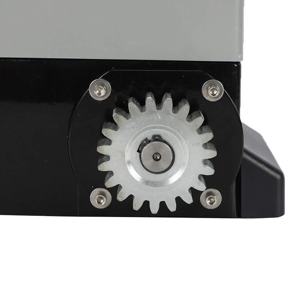 6 Zahnstange Schiebetorantrieb HaroldDol Torantrieb Schiebetor Tor/öffner 550W Elektrisch Auto Tor Antrieb 1200kg mit 2 Fernbedienungen