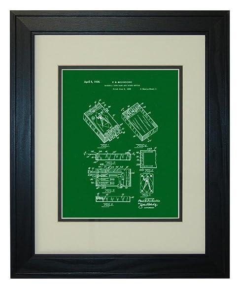 Amazon.com: Baseball Card Game and Score Device Patent Art Green ...