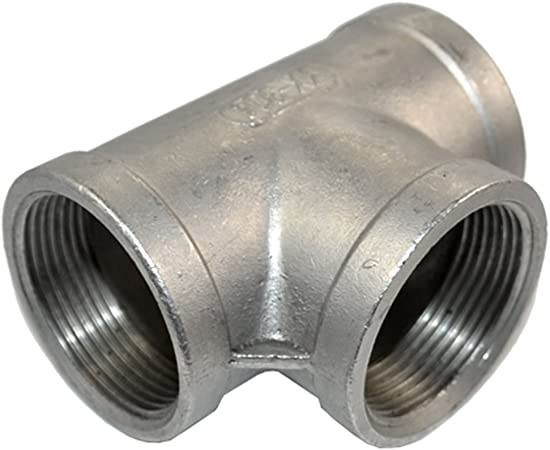 """Megairon NPT 1//2/"""" x 1//4/"""" Female Stainless SUS 304 Threaded Reducer Pipe Fitting"""