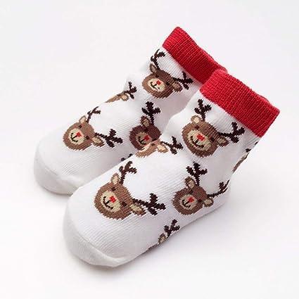 Hemore 1 par Invierno bebé algodón Calcetines Elk Lindo patrón Chicas Chicos niños Calcetines niños Tobillo