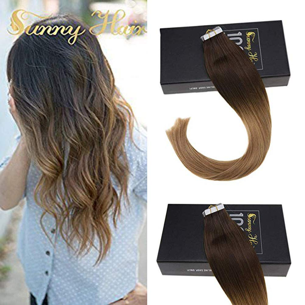 Sunny Brazilian Seamless Skin Weft Tape in Hair Extensions White Blonde #60 16 Human Hair Extensions 20pcs 25g Remy Blonde Hair Extensions ltd