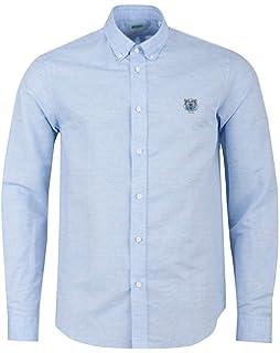 6a7a9e48 Kenzo Mens Tiger Crest Cotton Poplin White Shirt: Amazon.co.uk: Clothing