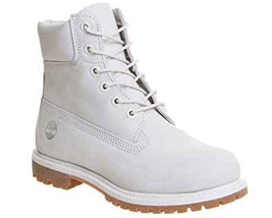 Timberland Women s 6 quot  Premium A196R Nubuck Leather Boot Vaporous Grey- White-4 91fc6a287a