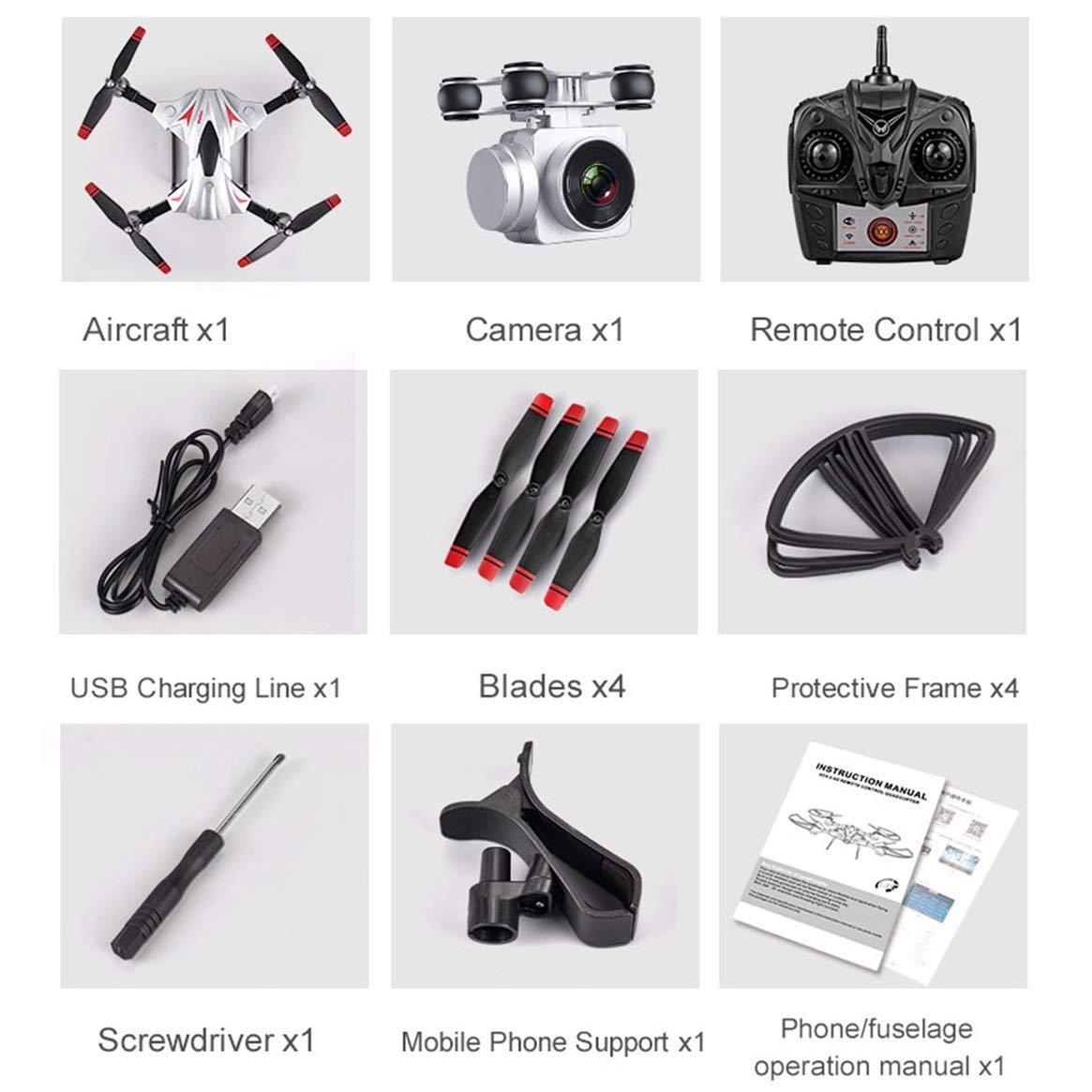 Delicacydex S13 4 Kanal 6 Achsen Lange Ausdauer Fernbedienung Quadcopter Kamera Drone UAV Positioniersystem Flugzeug mit 0.3MP Kamera