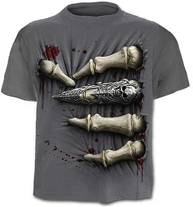 Camisa Calavera - Camiseta - Camisa Rock - Metal - 3D - Manga Corta - Hombre - Unisex - Mujer - Divertido - niños - Accesorios - Cosplay - Disfraz - XXXX - Grande - c0y5 Metal Cosplay: Amazon.es: Ropa y accesorios