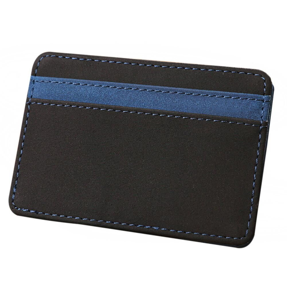 zbtrade Casual Men Faux Leather Slim Bifold Wallet Credit Card Holder Purse Gift Blue