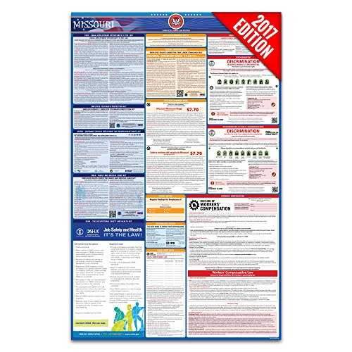 2017 Missouri Labor Law Poster – State & Federal Compliant – Laminated