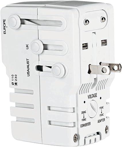 Conair TravelSmart Converter Adapter Set 220 240V to 110 120V Dual Wattage New