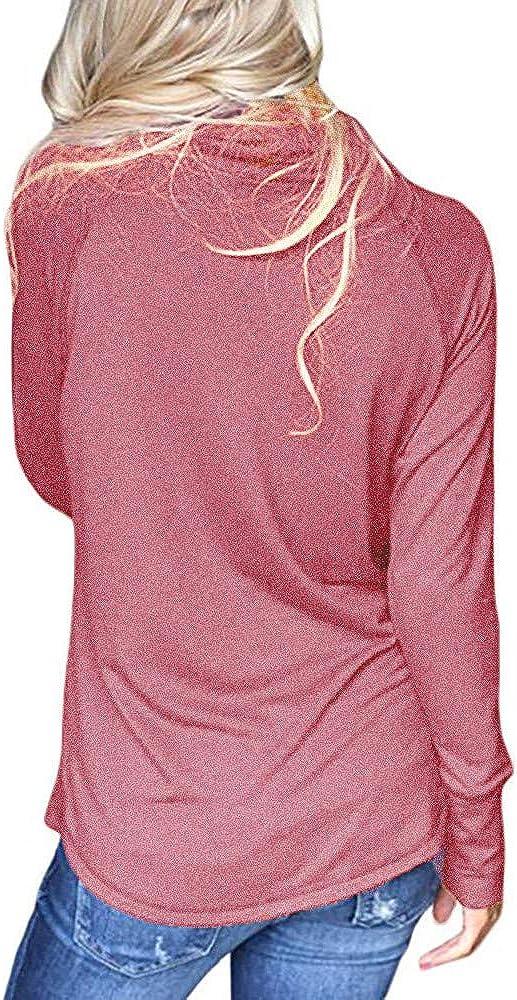 Luoluoluo Felpa Donna Autunno Manica Lunga Cappotto Giacca Pullover con Cappuccio Maglione della Camicetta Felpa Hoodies Maglietta Cappotti Top Felpe Tumblr Ragazza
