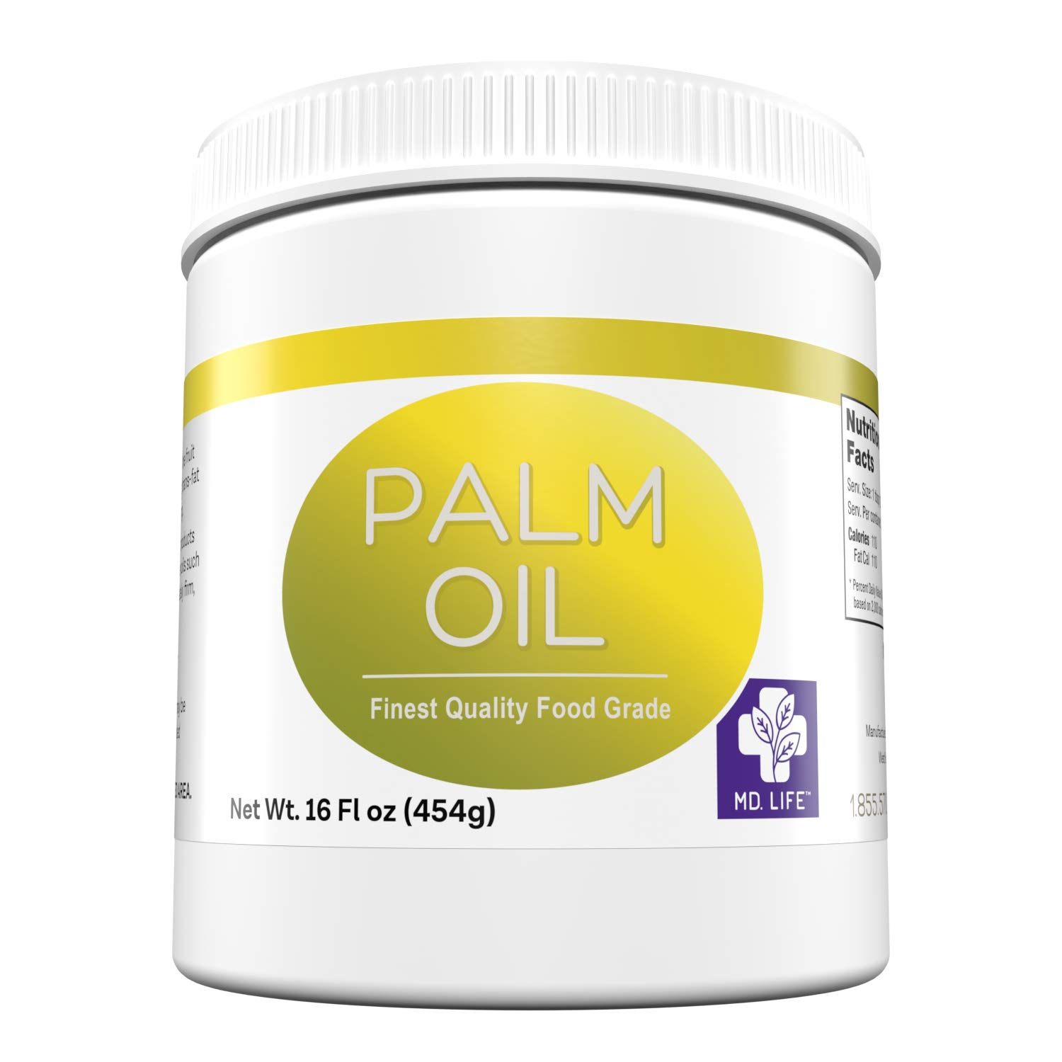 MD.LIFE PALM OIL - 16oz - Sustainable Food Grade Palm Oil for Cooking - Great for Soap Making Supplies, Cooking Oil, Creams and Lotions