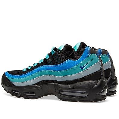 sale retailer b6739 82515 Nike Air Max 95 609048 084 Noir Bleu Vert Gris Baskets pour Homme - - Black