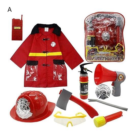11 unids niños traje de bombero, los niños del jefe de ...