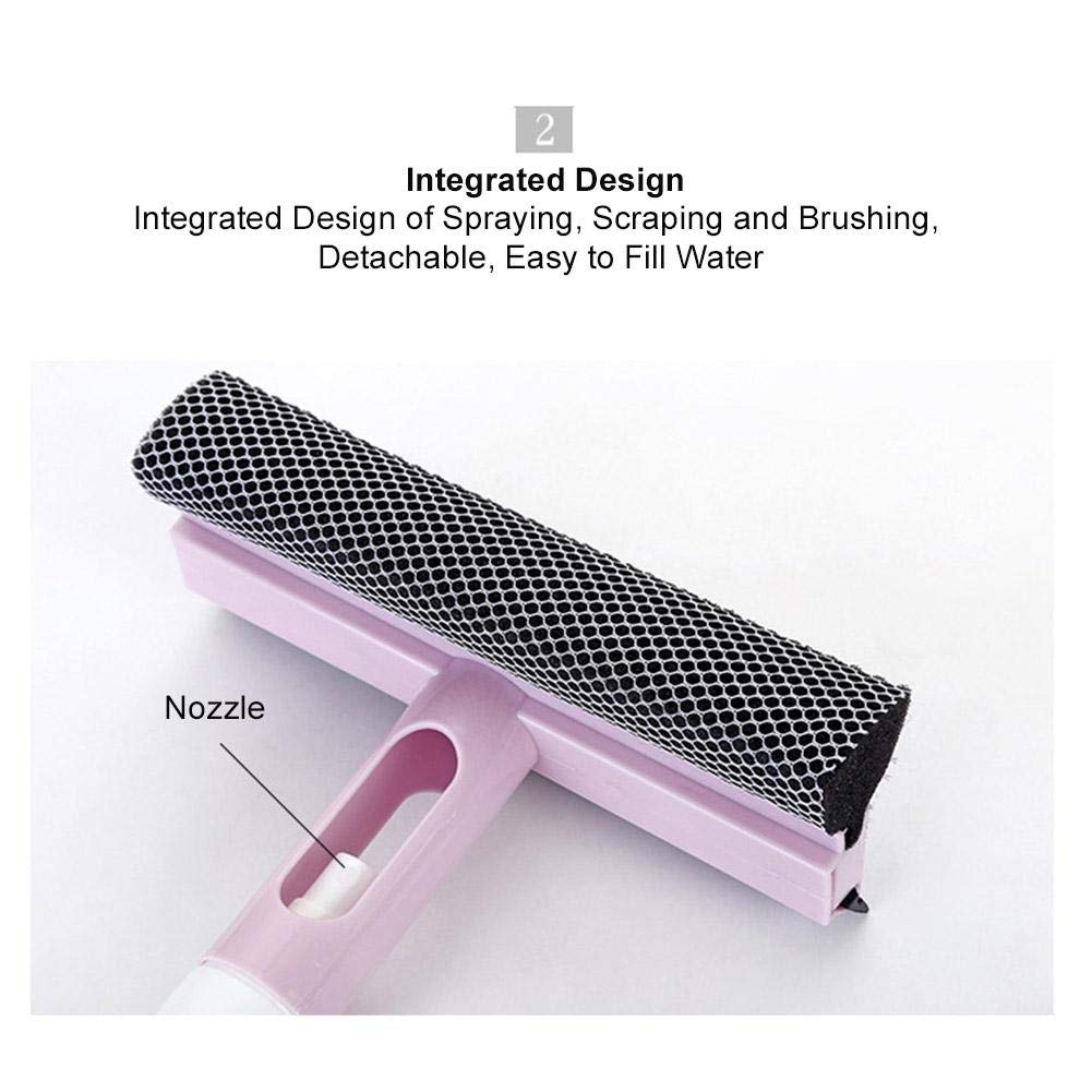 car window cleaning glass squeegee with sponge double-sided tool watering can multi-purpose one-piece water cleaner scraping tile floor ulable washing brusher sprinkling washer brush windshield kit Shantan®