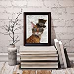 Fresh Prints of CT Dictionary Art Print - Steampunk Clockwork Kitty Cat - Printed on Recycled Vintage Dictionary Paper… 8