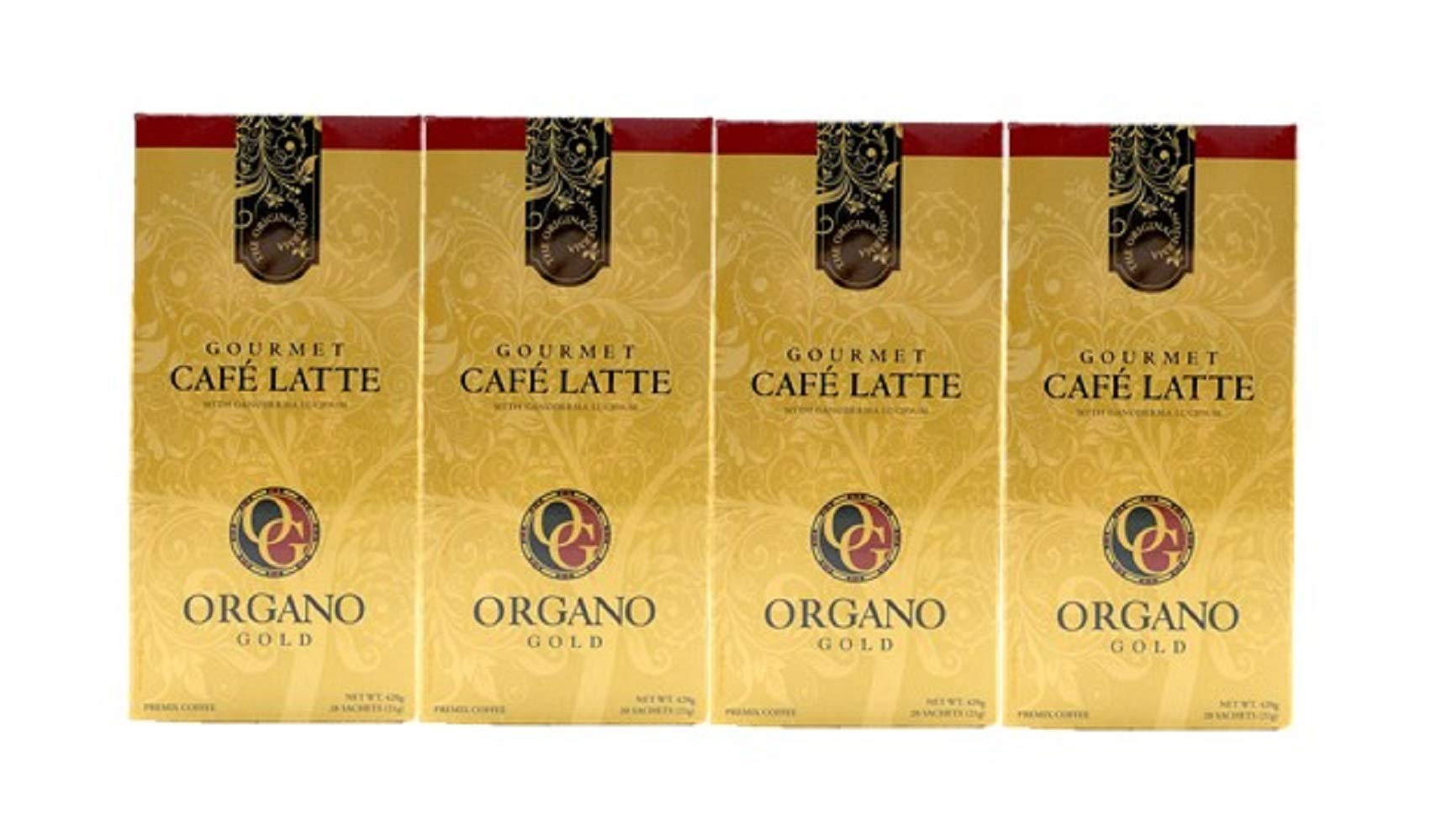 Organo Gold 2 Box Cafe Latte 100% Certified Organic Gourmet Coffee (4 Box) by Organo Gold